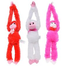 """Valentine's Day (3) Red White & Pink 13"""" Furry Love Monkeys. For Boys & Girls."""