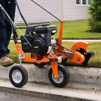 Lawn Edger Gas Walk Behind Curb Sidewalk Trimmer Landscape Commercial Adjustable
