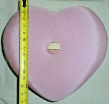 Vintage Beautifully Designed Pink Heart Shaped Padded Fancy Footstool/Stool HTF