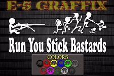Anti Stick Family Run You Stick Bastards .50 cal Marine vinyl decal USMC 0331