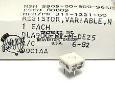 2x Trimm-Potentiometer von Tektronix, P/N 311-1221-00, Helitrim 50 Ohm, NOS