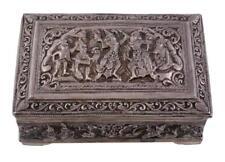 19th C. Burmese silver rectangular cigarette box.