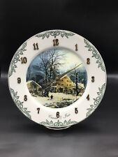 Curry & Ives Dinner Plate Size Plate Made into a Clock !