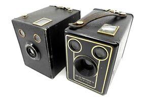 2 Kodak Box Kameras Six 20 (1935, 1950) aus Sammlung, funktionsfähig.