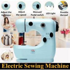 Sewing Machine with Foot Pedal for Sewing All Types of Fabrics,Pink Lightweight Sewing Machine With Free Sewing Kit,2-Speed Adjustable Mini Electric Sewing Machine TooFu Household Sewing Machine