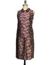 J.crew Collection Metallic Jacquard Marigold Print Pencil skirt nd Top- sz4