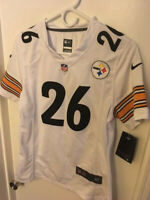 NEW-WITH-TAGS PITTSBURGH STEELERS LE'VEON BELL #26 JERSEY (WOMENS MEDIUM)