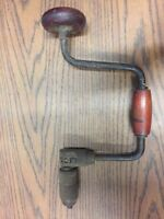 Vintage USA Made Bit Brace Ratcheting Hand Drill  Homestead Off-Grid Woodworking