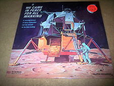 WE CAME IN PEACE FOR ALL MANKIND Sealed Record Decca 1969 Drill Hole Free Ship