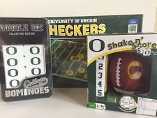 Oregon Ducks Team Checkers, Dominoes, Shake N' Score College Game Lot