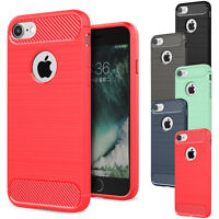 Ultra Thin Brushed Shockproof Protective Rubber Case Cover For iPhone 5 5s SE