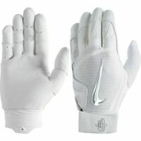 NEW Nike Huarache  Elite Batting baseball Gloves SMTH Palm Men's White Silver US
