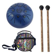 8 Notes C Major Steel Tongue Drum Handpan Hand Pan Drum Mallets Carry Bag Blue
