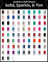 Jamberry Nail Wraps SOLIDS SPARKLES & TINTS ~ HALF SHEETS ~ New Colors Added!!