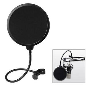 Mic Wind Screen Pop Filter Mask Shied Double Layer Flexible Studio Microphone