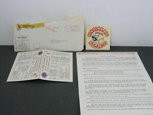 Vintage 1963 Cincinnati Redlegs Reds Baseball Schedule + Ticket Order + Decal