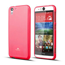 Korean Mercury Pearl TPU Gel Jelly Case Cover for HTC Desire Eye - Hot Pink+SP