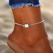 Summer Beach Turtle Anklets Animal Foot Bracelets Silver Chain Barefoot Sandals
