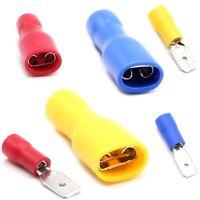Flachstecker Flachsteckhülsen 0.5 - 6 mm² Kabelschuh Steckverbinde vollisoliert