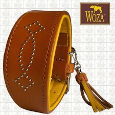 WOZA Premium Windhundhalsband Vollleder Greyhound Rindnappaleder Collar AG42181