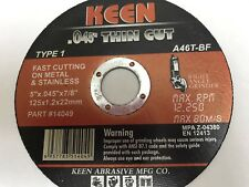 50 Pack Slice-It Cut Off Wheels 5 x .045 x 7/8 KEEN Abrasives 14046