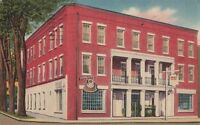 Postcard Prince Hotel Tunkhannock PA 1956
