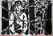 Frans Masereel: 2 Zeichnungen Gefangene im KZ / Les prisonniers, um 1943 Tusche