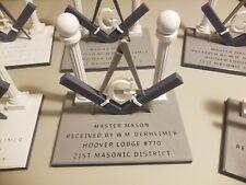 1 Breting Designs Mason Masonic Freemason Square Compass Office Desk Trophy