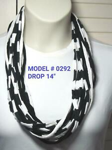 Unique Gift! T-Shirt Yarn Infinity Scarf Fabric Necklace 0292