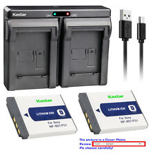 Kastar Battery Dual Charger for Sony OEM NP-BD1 NP-FD1 & Genuine BC-CSD BC-CS3