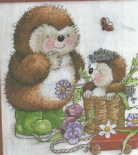Country Companions Hedgehog Mother and Child Cross Stitch Pattern (a7b82)
