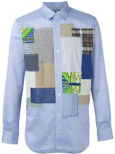 NWT Junya Watanabe MAN Comme des Garcons Lawn Patchwork Slim Fit Shirt - Small