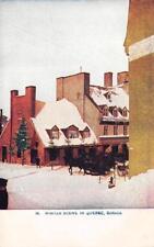 "Winter Scene In Quebec, Canada ""Woman's World"" Ad ca 1910s Vintage Postcard"