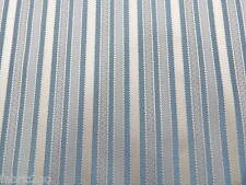 Designer Teal Blue & pale Gold Stripe Jaquard Curtain Fabric HALF PRICE SALE!