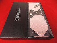 100% Authentic Saks Fifth Avenue Men's Textured Pastel Pink Silk Tie NWT In Box