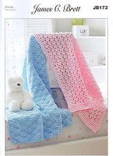 Baby Blankets JB173 Knitting Pattern James C Brett Flutterby