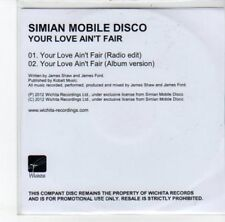 (DJ859) Simian Mobile Disco, Your Love Ain't Fair - 2012 DJ CD