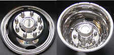 "17"" 05-17 FORD F350 F-350 Dually Wheel Simulators new 2wd or 4wd stainless"