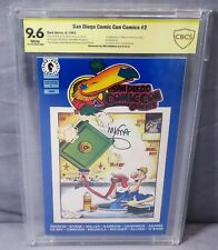 SAN DIEGO COMIC CON COMICS #2 CBCS 9.6 (Signed Mike Mignola, 1st Hellboy) 1993