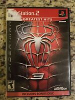 SPIDERMAN 3 Greatest hits w/bonus disk PLAYSTATION 2 NO MANUAL FREE SHIP