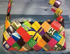 Recyled Gum Wrapper Small Purse Womens Girls 6x4 Handmade