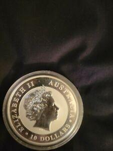 2011 10oz  Australian Kookaburra, Perth Mint .9999 Fine Silver Coin.