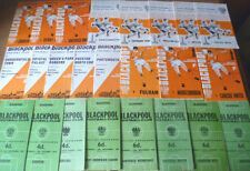 Blackpool Away Team First Division Football Programmes