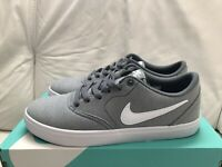 Nike SB Check Solar Canvas Cool Grey White Black Men's Size 9.5 New
