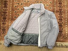 Vintage Fila Gris Puffa Veste Polaire Medium Top Coat Gilet Hiver M Ski
