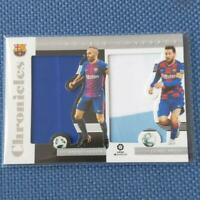 Andres Iniesta,Lionel Messi Chronicles Soccer Card FC Barcelona Double Jersey