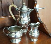 Vintage Three Piece 'Regent Plate' Silver Plated Coffee Set - Garrard & Co