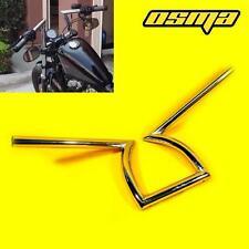 "Chrome Drag 1"" Z Bar Handlebar Harley Custom Chopper Softail Dyna Sportster 1200"