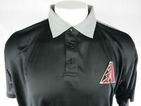 Arizona Diamondbacks COOLBASE Mens Black & Gray Polo Big & Tall XLT-6XL MLB