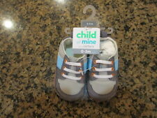 Carter's NWT Just One You 0-3 Month Boy Infant baby Shoes Gray Athletic NEW